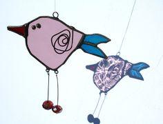 Birds - Glass Art brooch/jewellery