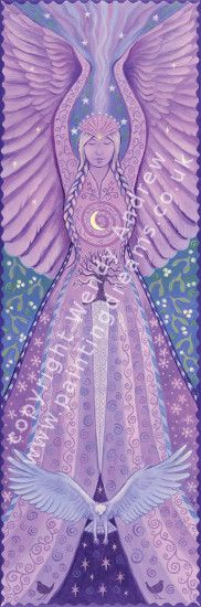 Air Goddess Banner by Wendy Andrew --- http://www.paintingdreams.co.uk/image.php?name=air-goddess&gallery=folk_art_goddess