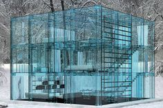 Don't throw stones if you live in a glass house. these are neat looking. Hopefully they don't have neighbors.