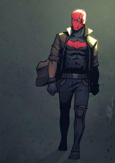 Red Hood Gotham, Red Hood Comic, Red Hood Dc, Batman Red Hood, Superman X, Red Hood Jason Todd, Univers Dc, Fanart, Arkham Knight