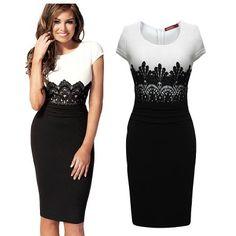 Sexy O neck Cap Sleeve Short Sleeve Sheath Black Polyester Knee Length Dress