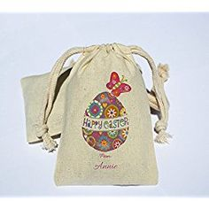 Personalized cotton muslin happy easter party favor bag easter personalized cotton muslin happy easter party favor bag easter holiday favor bag happy easter negle Image collections
