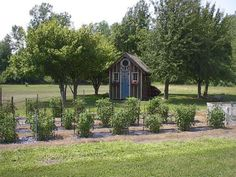 I'd love one of these with all my gardening things inside -- and a place for my grandkids to play!