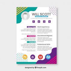 Graphic Design Cv, Cv Design, Resume Design, Resume Format For Freshers, Cv Curriculum Vitae, It Cv, Cv Inspiration, Pamphlet Design, Cv Resume Template