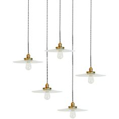 Rare Milk Glass Pendants | From a unique collection of antique and modern chandeliers and pendants at http://www.1stdibs.com/furniture/lighting/chandeliers-pendant-lights/