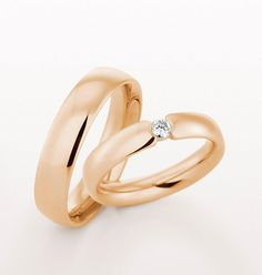Rose gold wedding rings by @Christian Wilsson Bauer.us