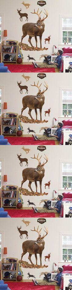 Other Nursery Wall D cor 20430: Fathead Deer Wall Graphic -> BUY IT NOW ONLY: $169.11 on eBay!