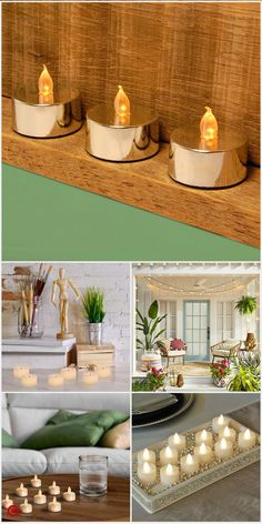 23 Clever DIY Christmas Decoration Ideas By Crafty Panda My Living Room, Living Room Decor, Diy Room Decor, Bedroom Decor, Home Decor, Fall Decor, Holiday Decor, Hurricane Candle, Candle Tray