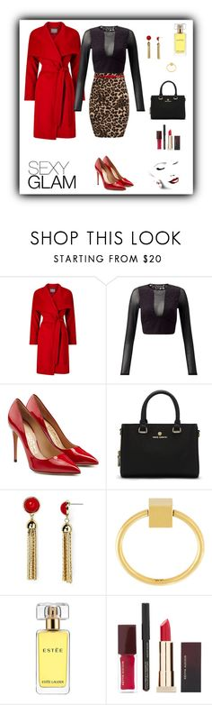 """Leopard Print"" by rboowybe ❤ liked on Polyvore featuring Phase Eight, Miss Selfridge, Salvatore Ferragamo, Vince Camuto, Aqua, Felicious, Estée Lauder, Kevyn Aucoin and contestentry"