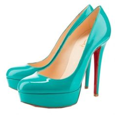 Christian Louboutin Bianca Pumps in Jade.  I am so in love with this color!