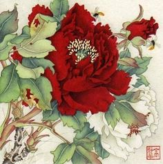 This is gorgeous! Jinghua Gao Dalia - Brush Magic- Over 3 decades of Chinese watercolor brush painting experience