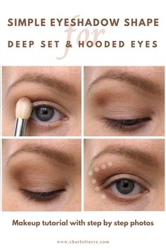 Simple technique for deep set or hooded eyes! #deepseteyes #makeupfordeepseteyes #hoodedeyes #hoodedeyesmakeup #makeuptutorial #eyeshadowtutorial