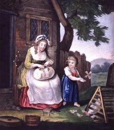 John Fairburn (English painter) Lace Maker 1795 ⊰✿ X ღɱɧღ