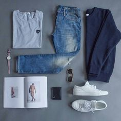 Stylish Mens Clothes That Any Guy Would Love Designer mens have. Stylish Mens Clothes That Any Guy Would Love Designer mens have gained more and more popularity over Mens Clothing Styles, Clothing Ideas, Men's Clothing, Outfits Hombre, Casual Outfits, Fashion Outfits, Fashion Clothes, Outfit Grid, Tennis Clothes