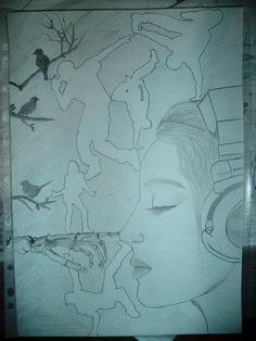 Feel the music. -Érezd a zenét. My Drawings, Feelings, Music, Musica, Musik, Muziek, Music Activities