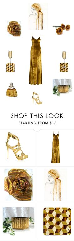 """""""Romantic evening"""" by einder ❤ liked on Polyvore featuring Giuseppe Zanotti, Galvan, Cadeau and Nude"""
