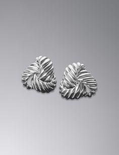 David Yurman Sculpted Cable Triangle Earrings