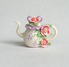Miniature Lavender Ruffle Rimmed Bow Topped by ArtisticSpirit, $24.50