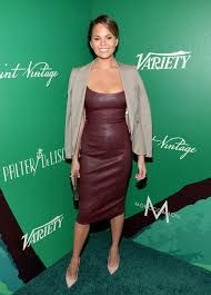 Image result for Chrissy Teigen's leather dress outfits