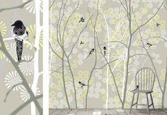 May Magpie - Wall Mural & Photo Wallpaper - Photowall