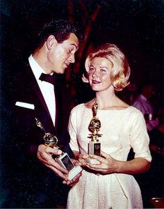 Doris Day and Rock Hudson. Golden Globes 1960.
