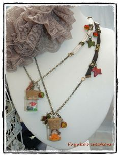 My special handmade necklace -polymer clay and tape-