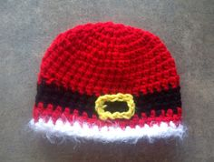 Santa belt buckle hat Christmas  photography prop by echats, $15.00