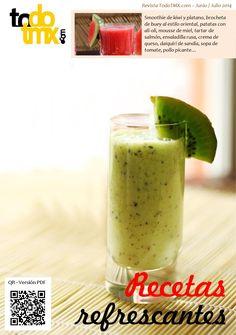 Revista digital dedicada a Thermomix con recetas, trucos, nutrición. Este mes está dedicada a las recetas refrescantes para combatir el calor del verano.