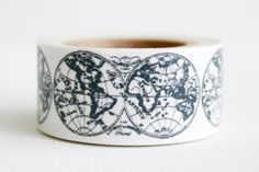 Globe patterned washi tape. This might be my favorite!