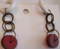 Chain Maille Rubber Earrings