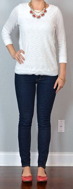 Outfit Posts: Bottom: Skinny Leg Pant white top