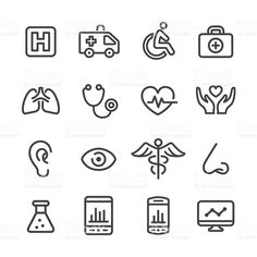 Medical and Healthcare Icons - Line Series royalty-free medical and healthcare icons line series stock vector art & more images of ambulance Healthy Cat Treats, Health Logo, High Resolution Photos, Free Vector Art, Image Now, Line, Health Care, Logo Design, Medical