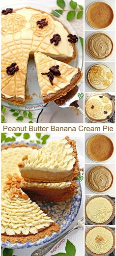 SugaryWinzy Peanut Butter Banana Cream Pie