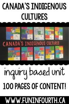 Canada's Indigenous People (First Nations, Aboriginal) - Inquiry Based Unit Elementary Education Activities, School Resources, Classroom Activities, Teacher Resources, Aboriginal Education, Indigenous Education, Aboriginal Culture, Social Studies Classroom, Social Studies Activities