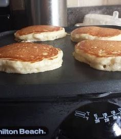 """the best home made pancakes- 3/4 c milk, 2 Tbsp white vinegar(see note), 1 c all purpose flour, 2 Tbsp white sugar (I used 3),1 tsp baking powder, 1/2 tsp baking soda, 1/2 tsp salt,1 egg, 2 Tbsp melted butter, 1 tsp vanilla, Combine milk & vinegar, set 10 min to """"sour"""". This is an important step and it is called """"soured milk"""" which is much different that sour milk. I guarantee you will NOT taste the vinegar in ..."""
