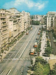 Vedere spre Piața Romană, anii 60 Timeline Photos, Railroad Tracks, Memories, History, Artwork, Projects, Photography, Vintage, Beautiful
