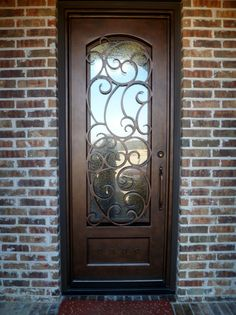 Wrought Iron Door With Eyebrow Arch. | Single Doors | Pinterest | Doors, Iron  Doors And Iron Front Door