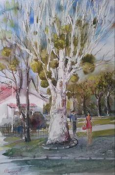 """Spring"" Watercolour,paper Arches, Size 56*38cm."