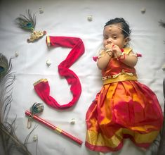 Janmashtami theme dressed as Radha Monthly Baby Photos, Newborn Baby Photos, Baby Girl Newborn, Born Baby Pics, Mom Daughter Matching Dresses, Fancy Dress For Kids, Baby Blog, Baby Portraits, Newborn Baby Photography