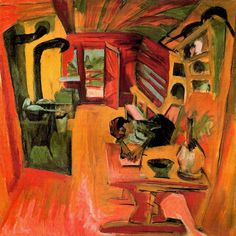 peira:  Ernst Ludwig Kirchner:  Alpküche (1918) via All Paintings
