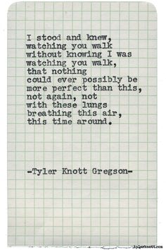 Typewriter Series #1558 by Tyler Knott Gregson Chasers of the Light & All The Words Are Yours are Out Now!