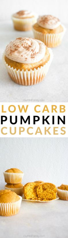 Need to whip up a dessert this fall for someone or a few people who are eating on a low-carb or keto diet? Leave half of the batch unfrosted, and then pipe and decorate the rest of the cupcakes with this not-so-low-carb cinnamon cream cheese frosting recipe for those who aren't on a low-carb diet to enjoy this fall season!