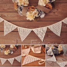 2-5M-Bunting-Lace-Fabric-Banners-Wedding-Decor-Vintage-Party-Garland-Decoration