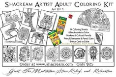 Adult coloring kit by shacream