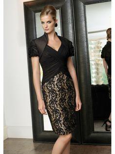 Taffeta V-neckline Ruched Bodice Knee-Length Occasions Dress