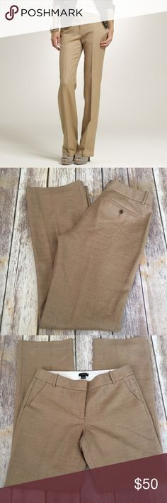 """NWT $138 J Crew 1035 Trouser in Khaki Herringbone Brand new with tags J Crew """"1035 Trouser"""" in """"Khaki Herringbone"""". They're J Crew's City Fit style. Size 6. Last picture shows the detail of the print/color. ⚓️No trades or holds. I accept reasonable offers unless the item is priced at $8 or less and then the price is FIRM. I only negotiate through the offer button. 🚭🐩HB J. Crew Pants Trousers"""