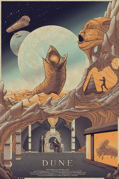 "kogaionon: ""Dune by Cristian Eres / Behance / Facebook / Twitter / Tumblr / Instagram / Store 24"" x 36"" screen print, numbered edition of 50. Private commission, not for sale. """