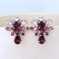 Purple earringsBridal earringsPurple Amethyst   Etsy