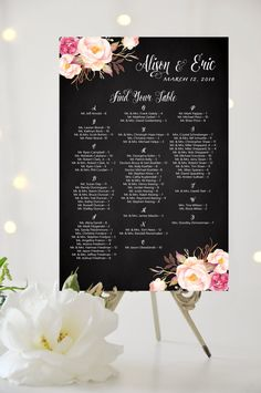 Custom Table Seating Chart Alphabetical by CharmingEndeavours
