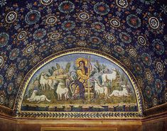 5th century Byzantine Mosaic, The Good Shepherd